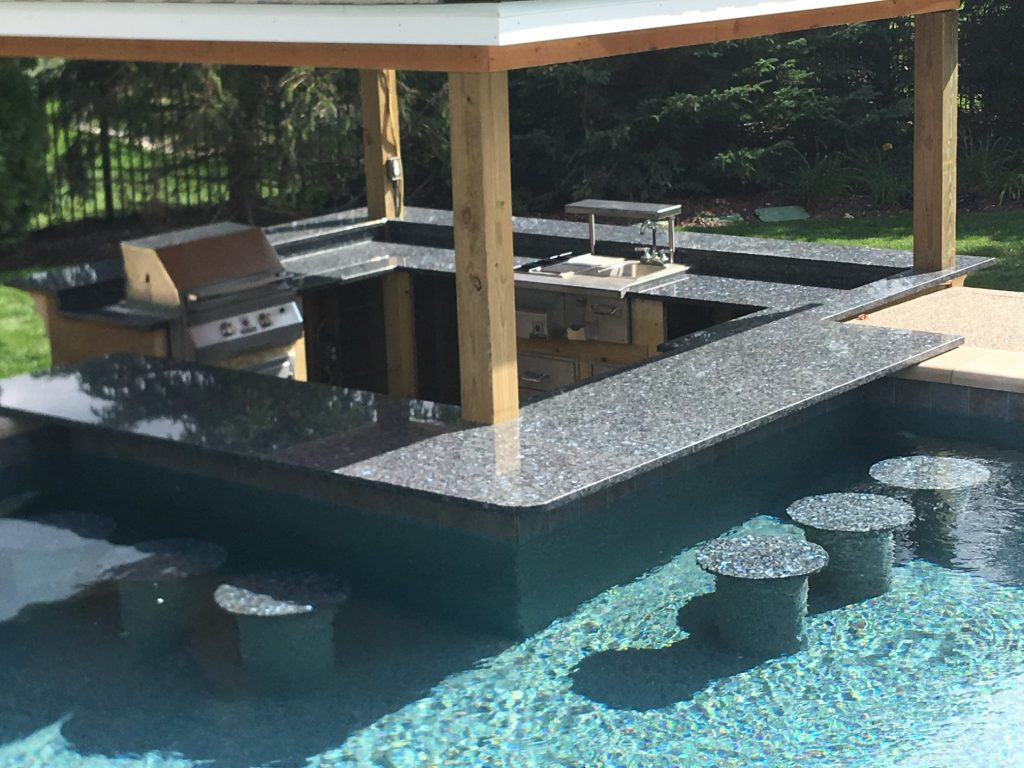 Michigan Outdoor Kitchen Granite Countertops